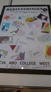 resultaat van een workshop woord en beeld met MBO studenten